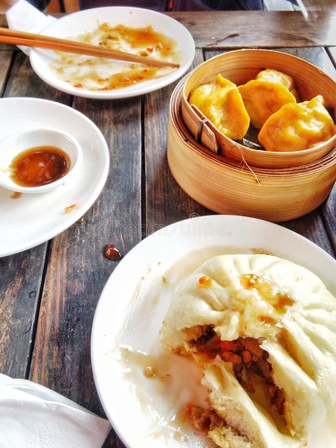 Alimento asiatico Bao fotografia stock
