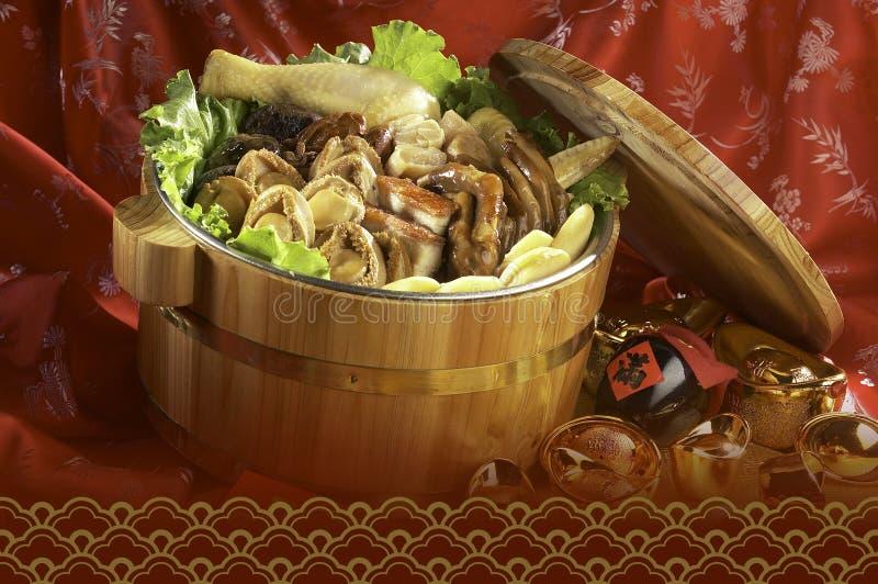 Alimento asiatico combinato immagini stock