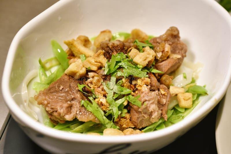 Alimento asiatico della tagliatella, tagliatella di riso cinese immagini stock libere da diritti