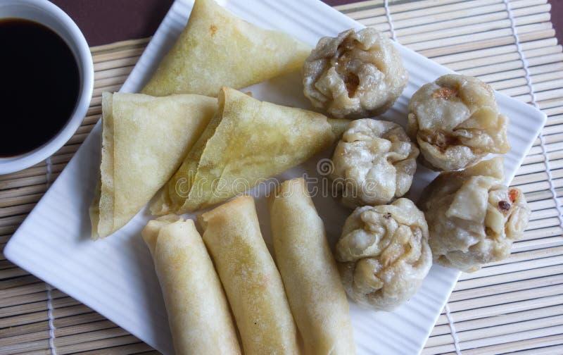 Alimento asiatico, Yum Cha. fotografia stock libera da diritti