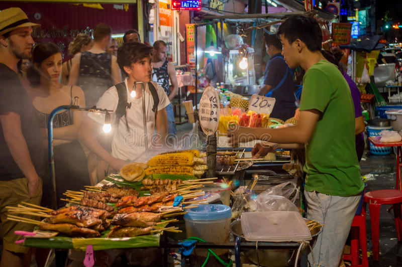 Alimento Banguecoque da rua foto de stock royalty free