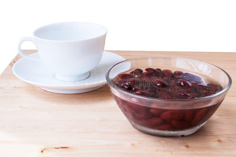 Alimento biológico doce da sobremesa do açúcar da fervura do feijão vermelho fotos de stock royalty free