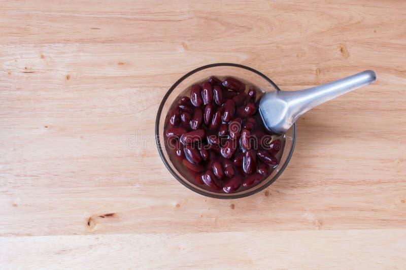 Alimento biológico doce da sobremesa do açúcar da fervura do feijão vermelho fotografia de stock