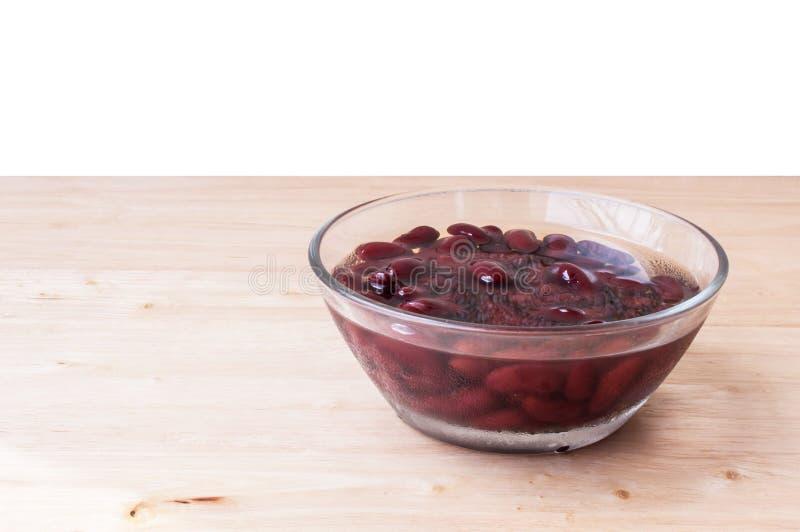 Alimento biológico doce da sobremesa do açúcar da fervura do feijão vermelho fotografia de stock royalty free