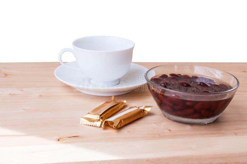 Alimento biológico doce da sobremesa do açúcar da fervura do feijão vermelho foto de stock royalty free