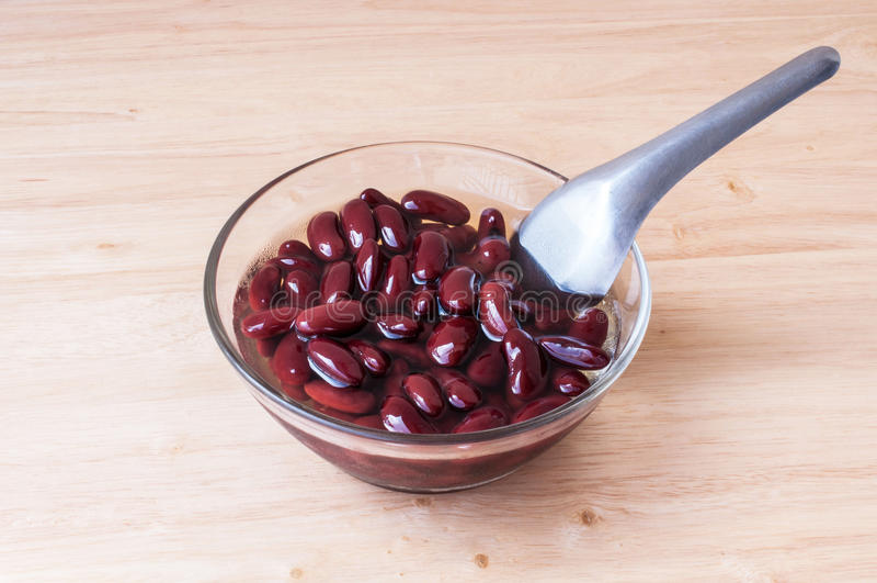 Alimento biológico doce da sobremesa do açúcar da fervura do feijão vermelho imagens de stock