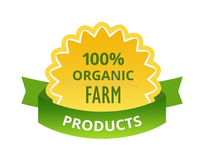 alimento biológico Eco-amigável dos produtos naturais, exploração agrícola, etiquetas biológicas, etiquetas, etiquetas ilustração royalty free