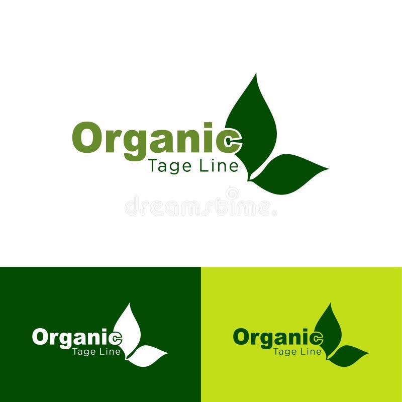 Alimento biológico, iconos del producto fresco y natural de la granja, Logo Natural, orgánico, icono del verde de la hoja, diseño ilustración del vector