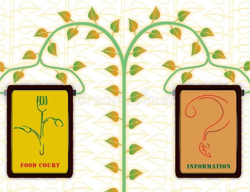 Alimento biológico & informação foto de stock royalty free