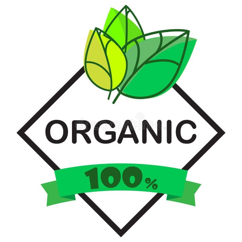 Alimento biol?gico, ?cones do produto fresco e natural da explora??o agr?cola e cole??o dos elementos para o mercado do alimento, ilustração stock