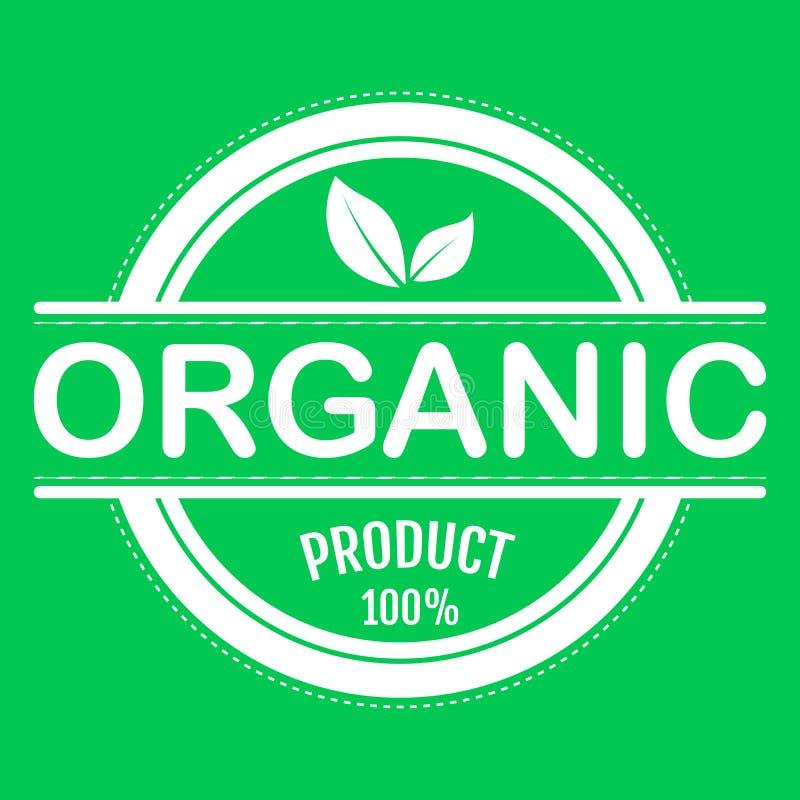 Alimento biol?gico, etiqueta e crach? do produto fresco e natural da explora??o agr?cola para o mercado do alimento, com?rcio ele ilustração royalty free