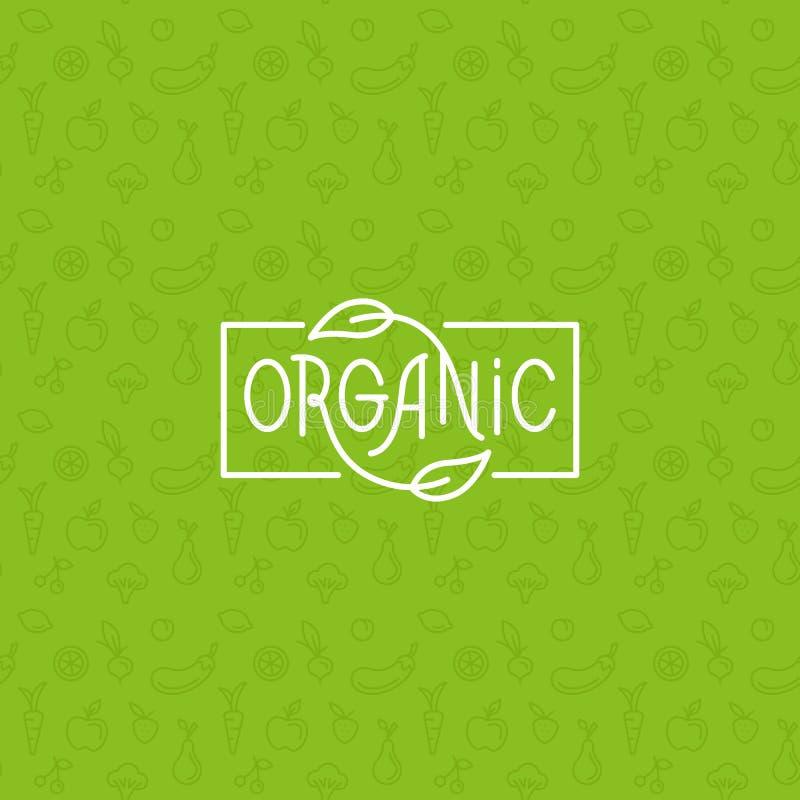 Alimento biologico illustrazione di stock