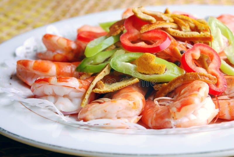 Alimento-camarão delicioso de China foto de stock