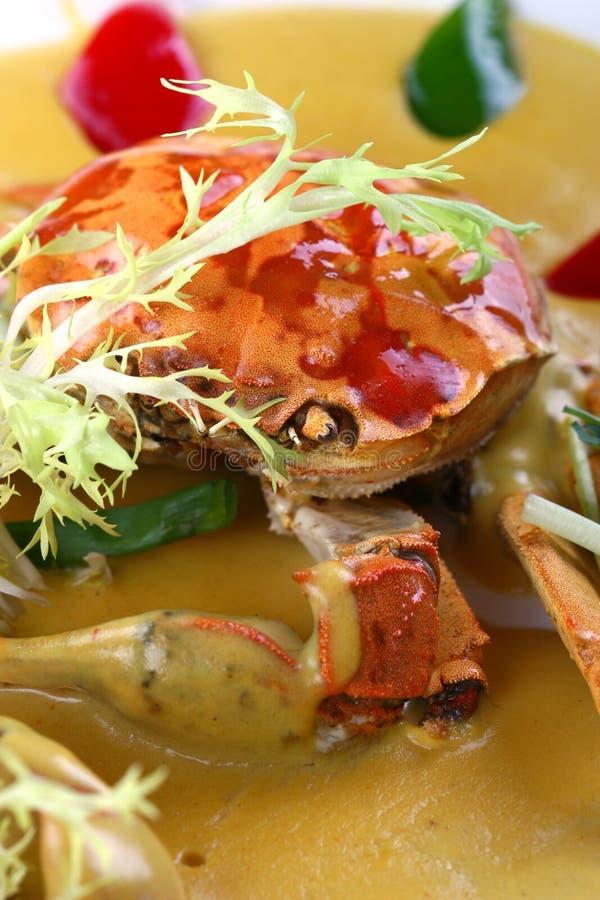 Alimento-caranguejo do asian da fritada imagens de stock