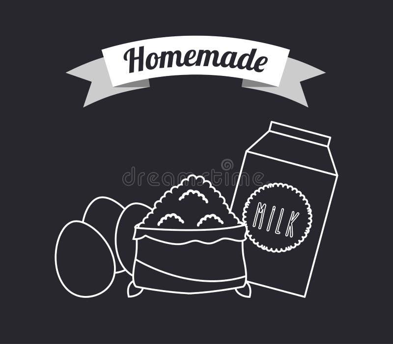 Alimento casalingo illustrazione di stock