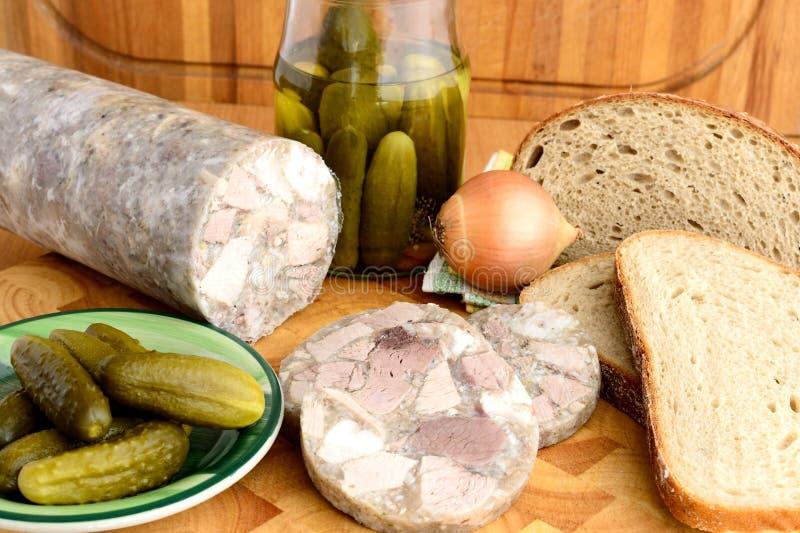 Alimento checo tradicional - Headcheese fotos de stock royalty free