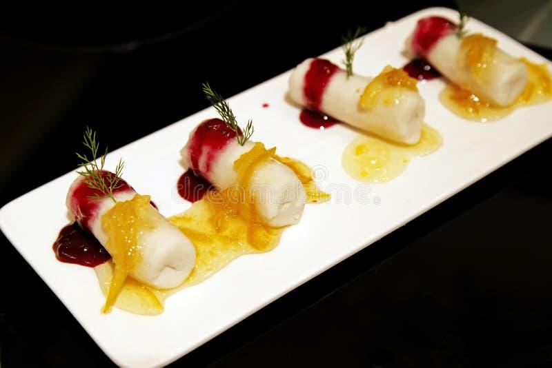 Alimento chinês -- Bolo do Yam imagens de stock royalty free