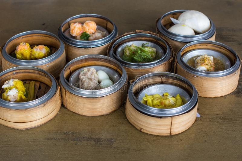Alimento chinês: Dim Sum fotos de stock royalty free