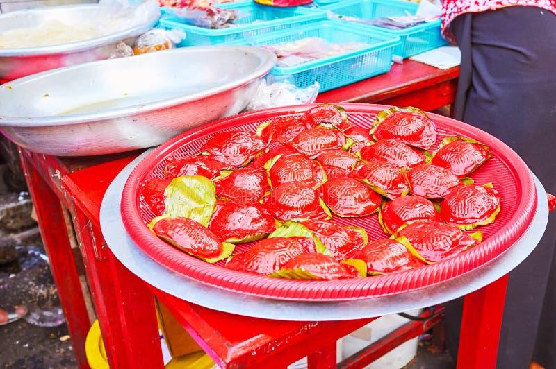 Alimento chinês do festival, Yangon, Myanmar fotografia de stock royalty free