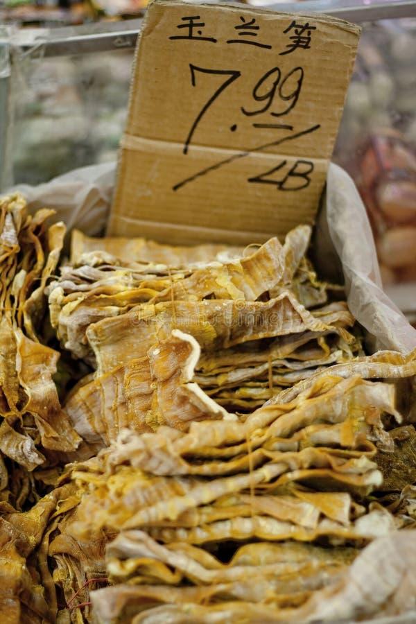 Alimento chinês em um mercado de produto fresco fotos de stock royalty free