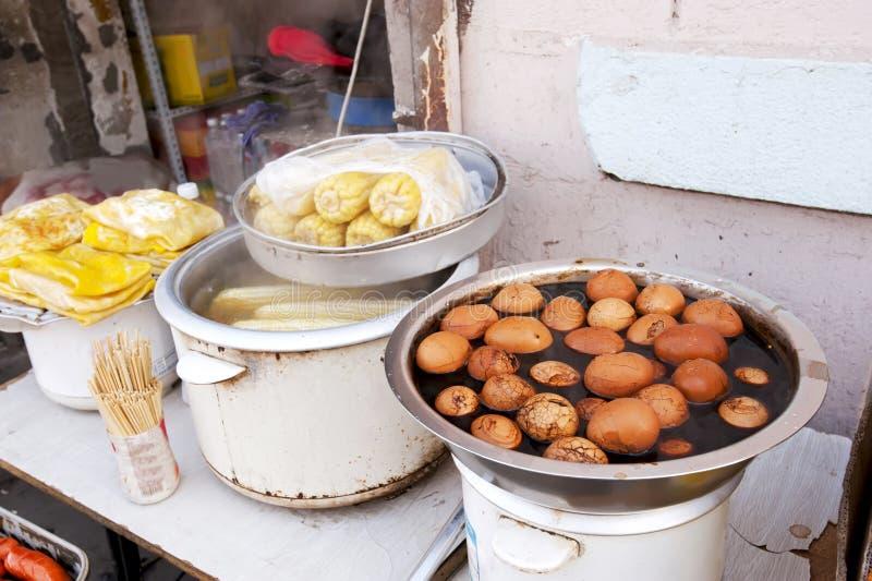 Alimento chino de la calle foto de archivo