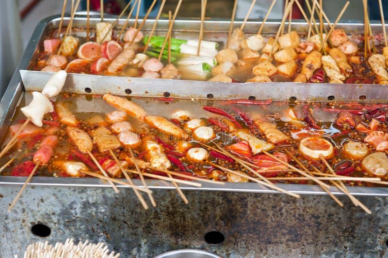 Alimento chino de la calle imágenes de archivo libres de regalías