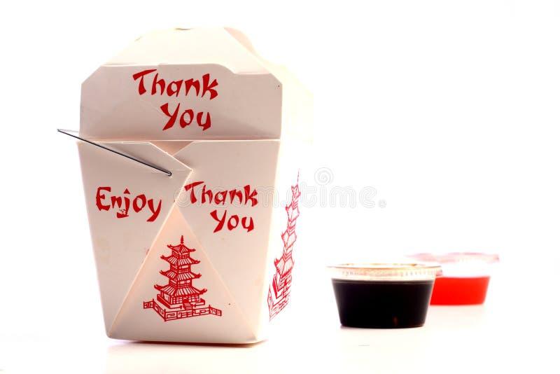 Alimento chino para llevar foto de archivo libre de regalías