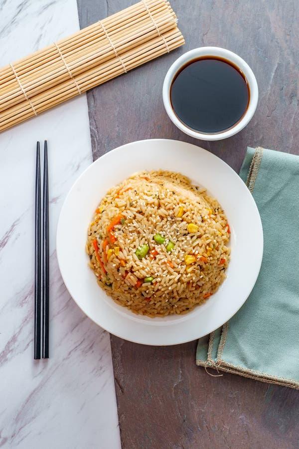 Alimento cinese Fried Rice immagini stock libere da diritti