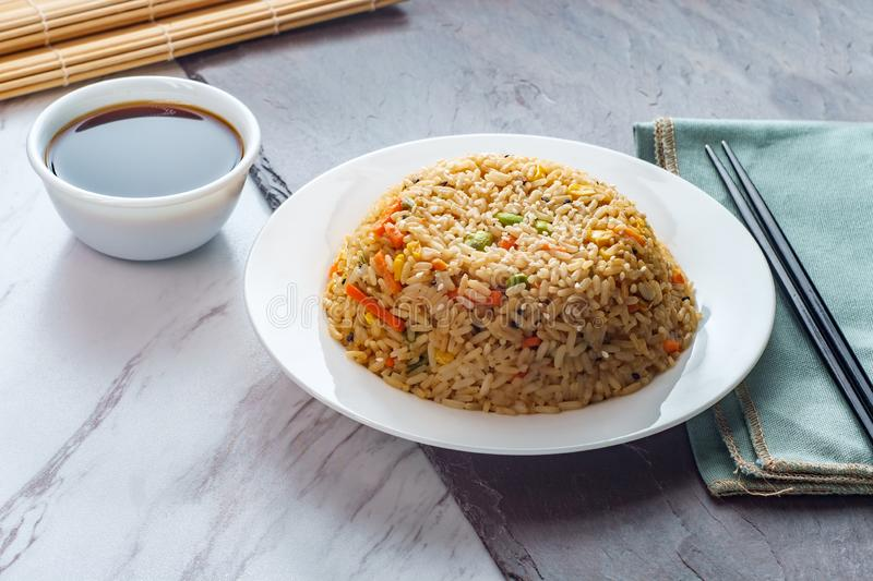 Alimento cinese Fried Rice immagini stock