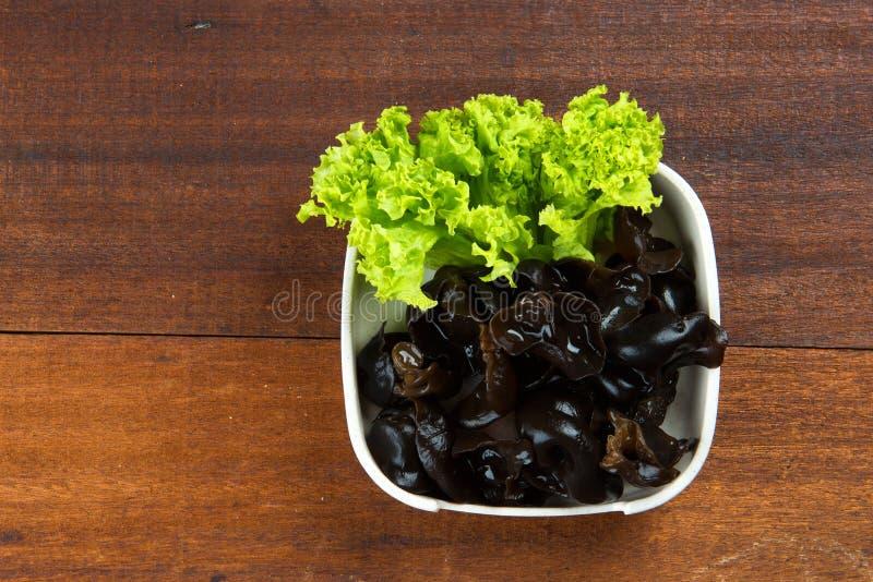 Alimento cinese nero del fungo fotografia stock libera da diritti