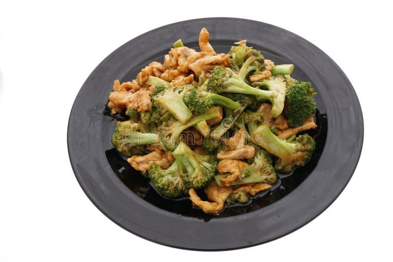 Alimento cinese Pollo con i broccoli immagini stock