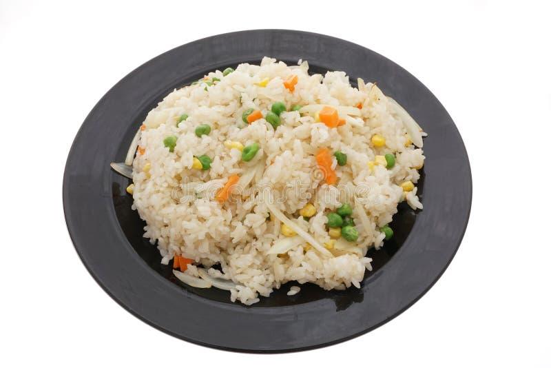 Alimento cinese Riso con la cipolla e le verdure fotografia stock libera da diritti