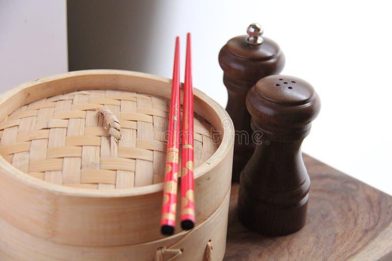 Alimento cinese. Vapore fotografia stock libera da diritti