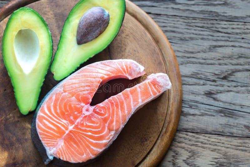 Alimento com gorduras saudáveis imagens de stock