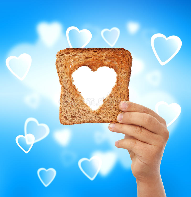Alimento con amor - ayude al concepto necesitado imagen de archivo libre de regalías
