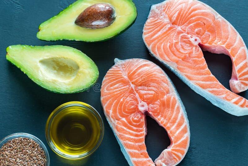 Alimento con i grassi Omega-3 fotografia stock libera da diritti