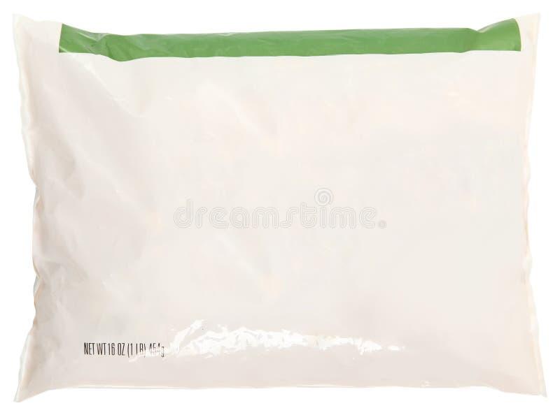 Alimento congelado etiqueta do espaço em branco do saco de mantimento fotografia de stock