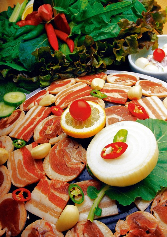 Alimento coreano fotografía de archivo libre de regalías