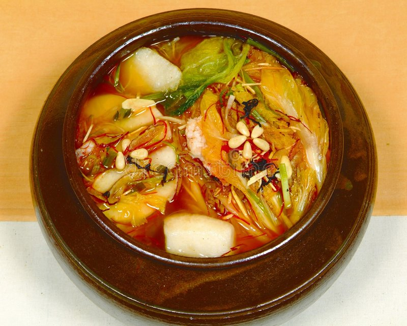 Alimento coreano fotos de archivo