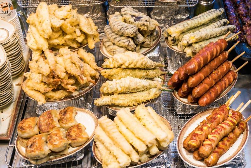 Alimento coreano della via fotografia stock