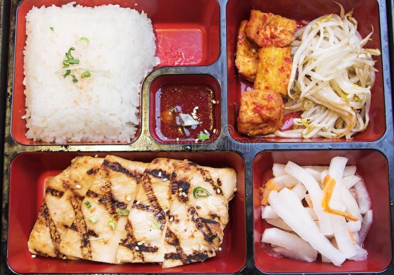 Alimento coreano - rectángulo de Pento fotografía de archivo