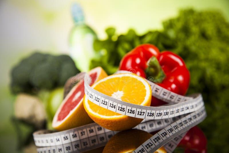 Alimento da aptidão, dieta, composição vegetal imagens de stock