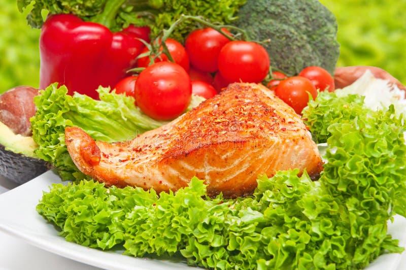 Alimento da dieta dos salmões fotografia de stock royalty free
