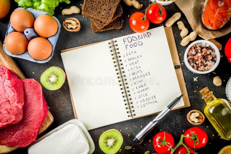 Alimento da dieta saudável de Fodmap imagem de stock royalty free