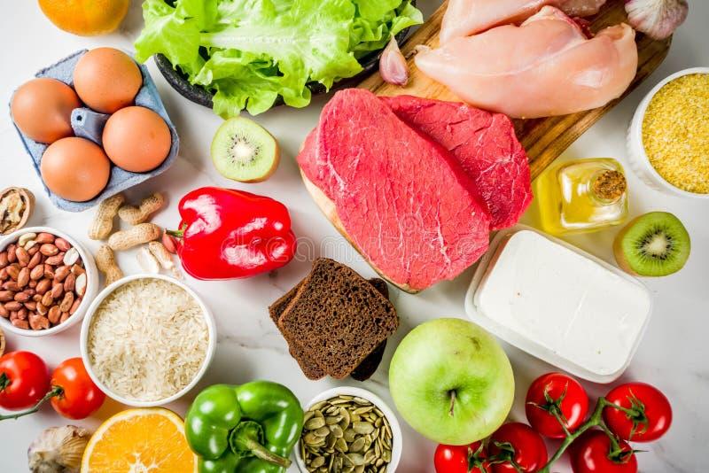 Alimento da dieta saudável de Fodmap fotografia de stock