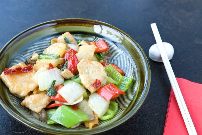 Alimento da galinha do estilo chinês fotos de stock