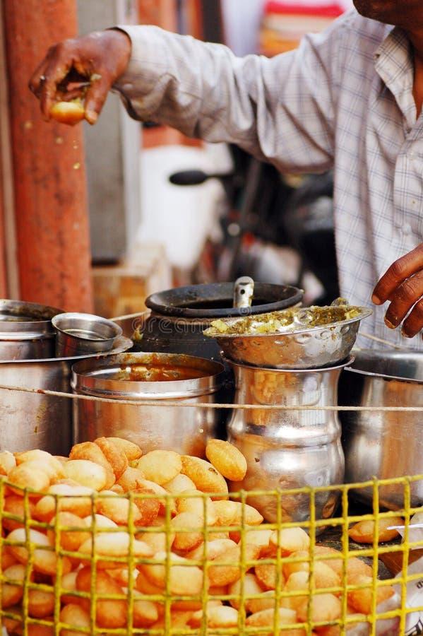 Alimento da rua de India foto de stock