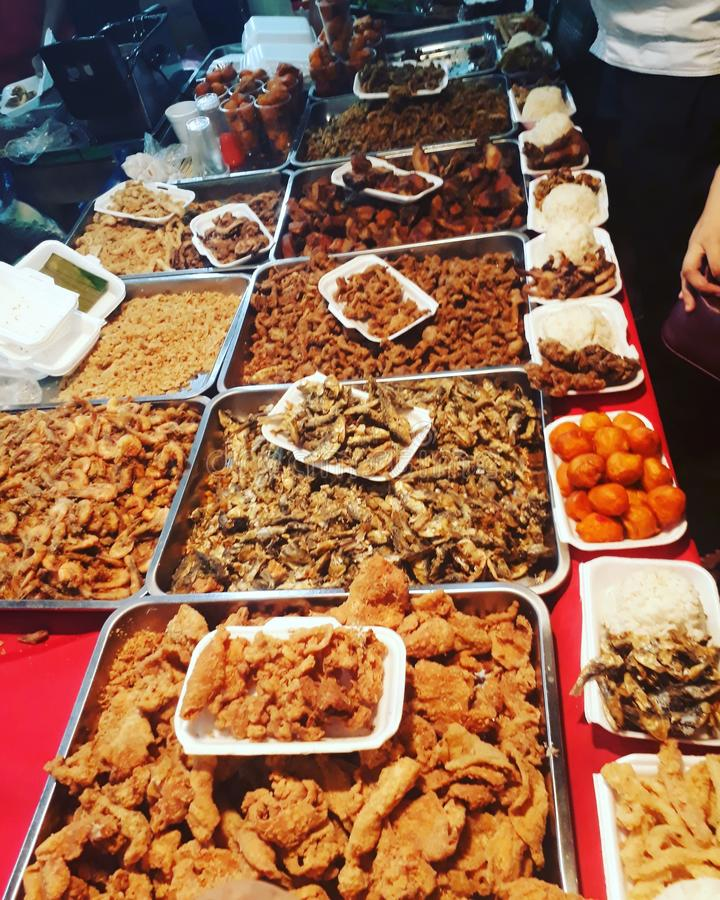 alimento da rua dos phillipines fotos de stock
