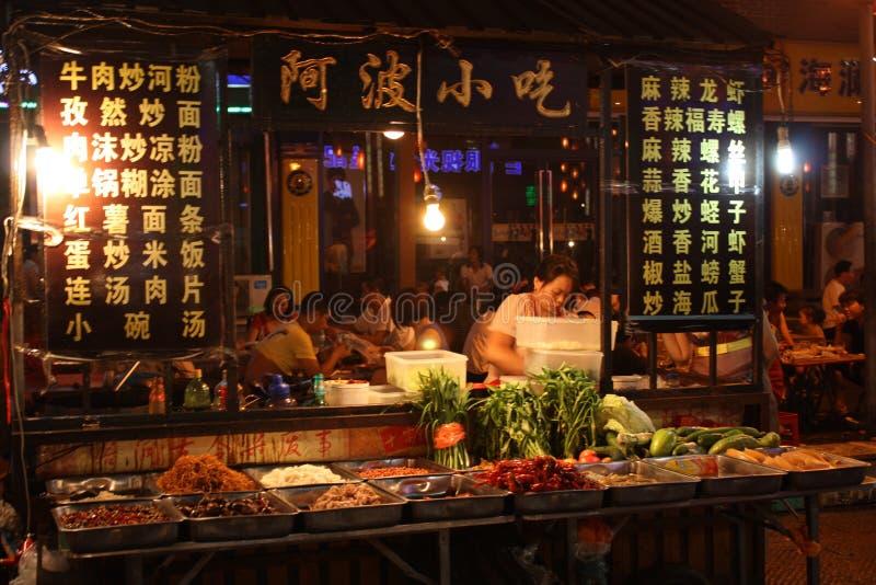 Alimento da rua em China imagens de stock