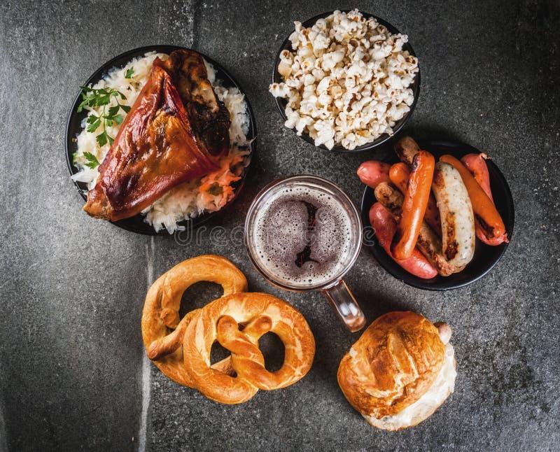 Alimento da seleção para Oktoberfest fotografia de stock royalty free